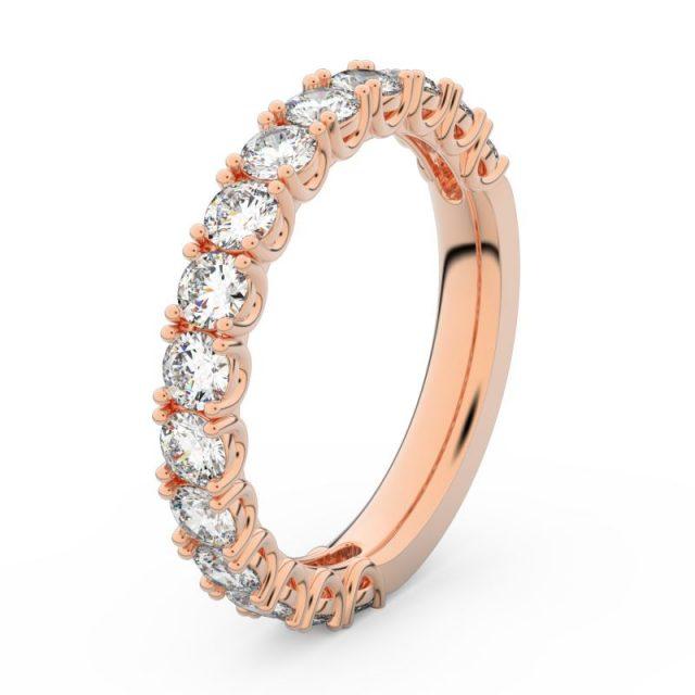 Dámský snubní prsten z růžového zlata s diamanty, Danfil DF 3904