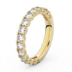 Dámský snubní prsten ze žlutého zlata s diamanty, Danfil DF 3904