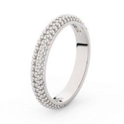 Dámský snubní prsten z bílého zlata s diamanty, Danfil DF 3911