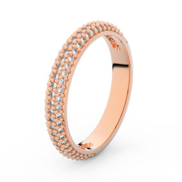 Dámský snubní prsten z růžového zlata s diamanty, Danfil DF 3911