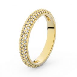 Dámský snubní prsten ze žlutého zlata s diamanty, Danfil DF 3911