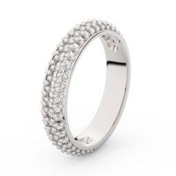 Dámský snubní prsten z bílého zlata s brilianty, Danfil DF 3912