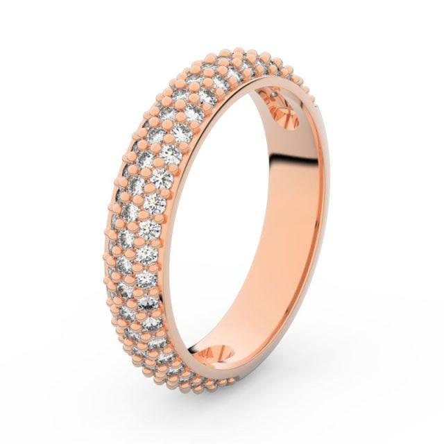 Dámský snubní prsten z růžového zlata s diamanty, Danfil DF 3912