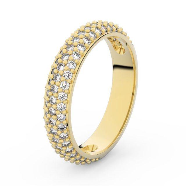 Dámský snubní prsten ze žlutého zlata s diamanty, Danfil DF 3912