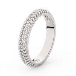 Dámský snubní prsten z bílého zlata s brilianty, Danfil DF 3918