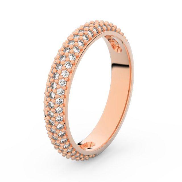 Dámský snubní prsten z růžového zlata s diamanty, Danfil DF 3918