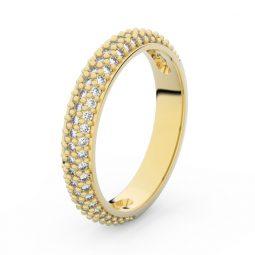 Dámský snubní prsten ze žlutého zlata s diamanty, Danfil DF 3918