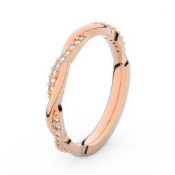 Dámský snubní prsten z růžového zlata s diamanty, Danfil DF 3951