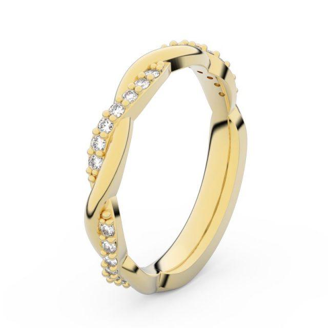 Dámský snubní prsten ze žlutého zlata s diamanty, Danfil DF 3952