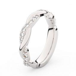 Dámský snubní prsten z bílého zlata s diamanty, Danfil DF 3953