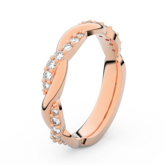 Dámský snubní prsten z růžového zlata s diamanty, Danfil DF 3953