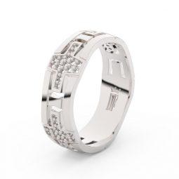 Dámský snubní prsten z bílého zlata s diamanty Danfil DF 3042