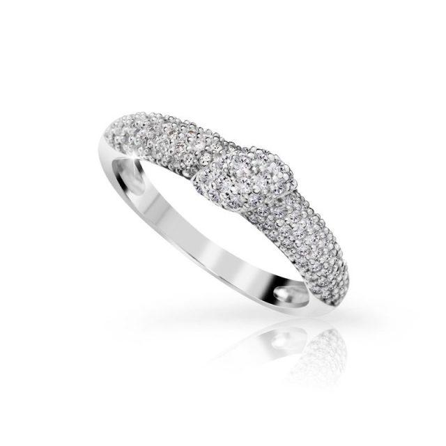 Zásnubní prsten z bílého zlata s diamanty, Danfil DF 3200B