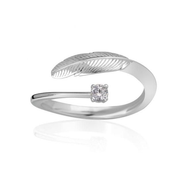 Zásnubní prsten z bílého zlata s diamantem, Danfil DF 3836B
