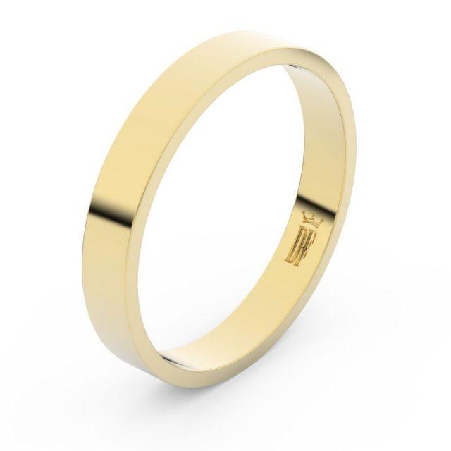 Snubní prsten ze žlutého zlata, Danfil FMR 1G35