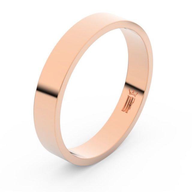 Snubní prsten z růžového zlata, Danfil FMR 1G40