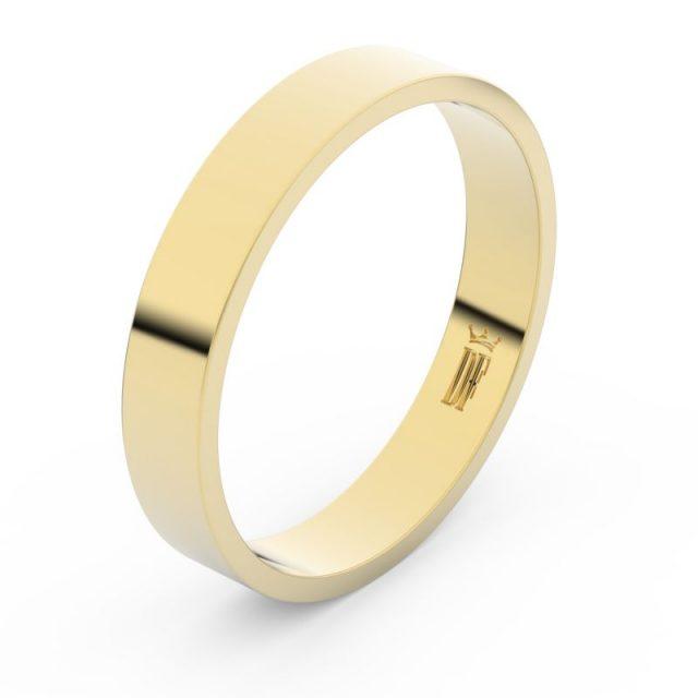 Snubní prsten ze žlutého zlata, Danfil FMR 1G40