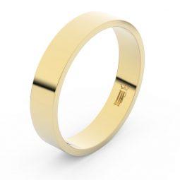 Snubní prsten ze žlutého zlata, Danfil FMR 1G45