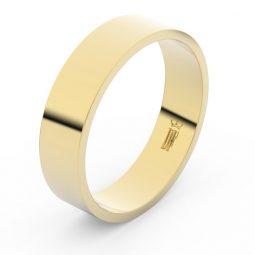 Snubní prsten ze žlutého zlata, Danfil FMR 1G55