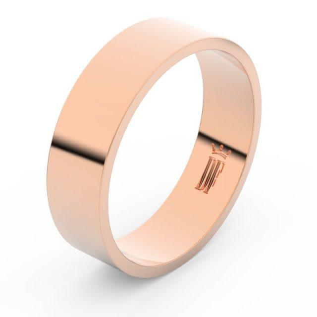 Snubní prsten z růžového zlata, Danfil FMR 1G60