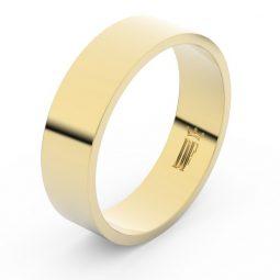 Snubní prsten ze žlutého zlata, Danfil FMR 1G60