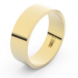Snubní prsten ze žlutého zlata, Danfil FMR 1G70