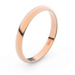 Snubní prsten z růžového zlata, Danfil FMR 2A30