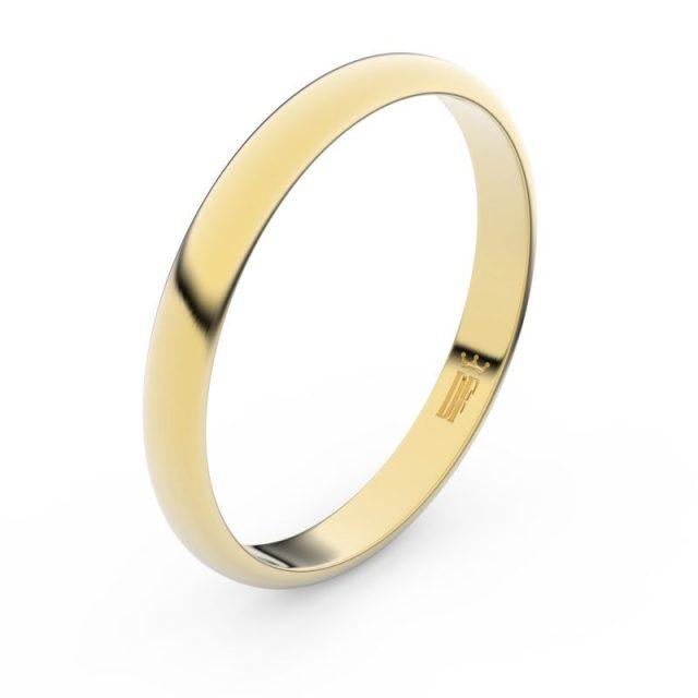 Snubní prsten ze žlutého zlata, Danfil FMR 2A30