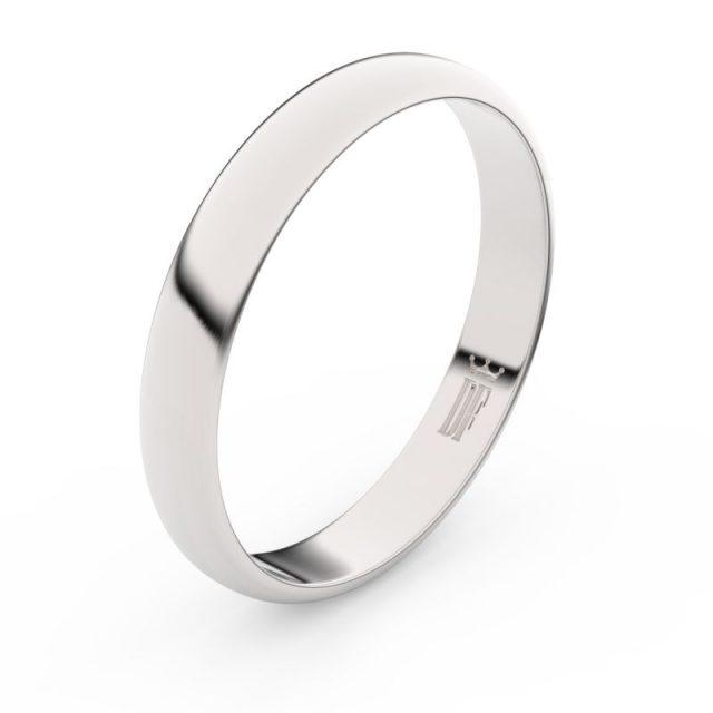 Snubní prsten z bílého zlata, Danfil FMR 2B35