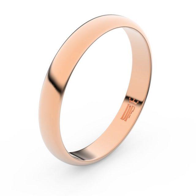 Snubní prsten z růžového zlata, Danfil FMR 2B35