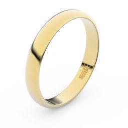 Snubní prsten ze žlutého zlata, Danfil FMR 2B35