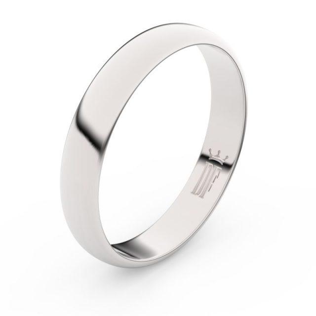 Snubní prsten z bílého zlata, Danfil FMR 2C40