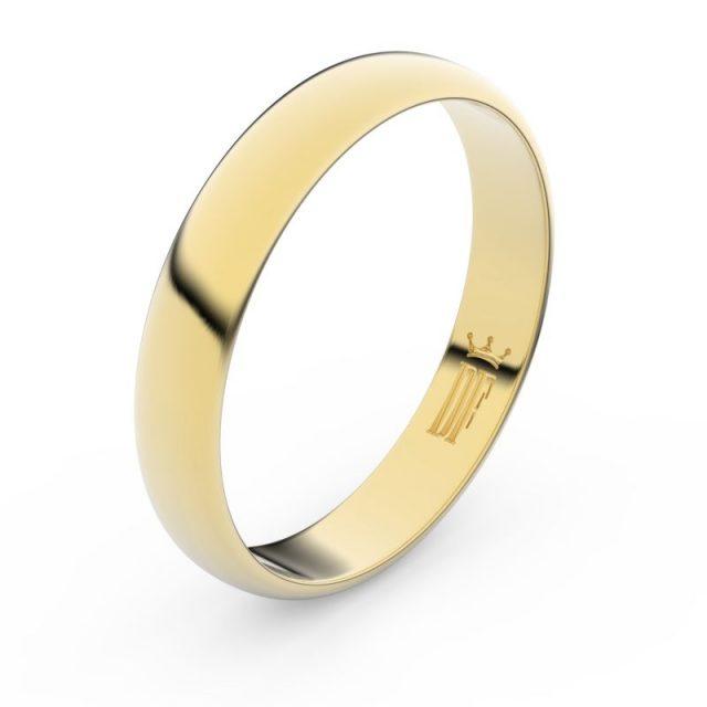 Snubní prsten ze žlutého zlata, Danfil FMR 2C40