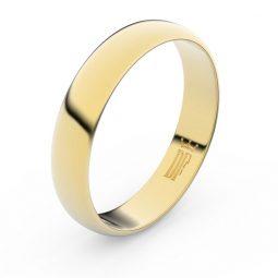 Snubní prsten ze žlutého zlata Danfil FMR 2D45