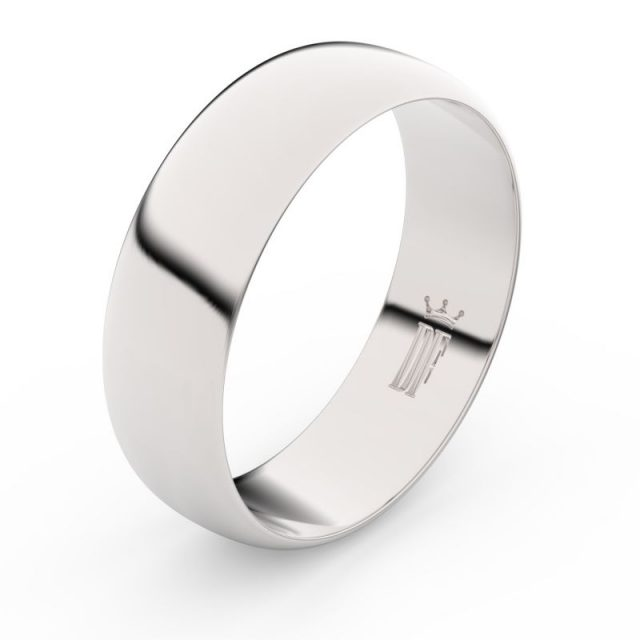 Snubní prsten z bílého zlata, Danfil FMR 3B65