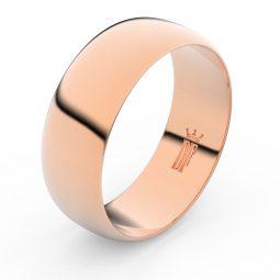 Snubní prsten z růžového zlata, Danfil FMR 3C75