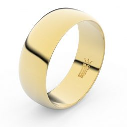 Snubní prsten ze žlutého zlata, Danfil FMR 3C75