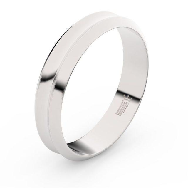 Snubní prsten z bílého zlata, Danfil FMR 4B45