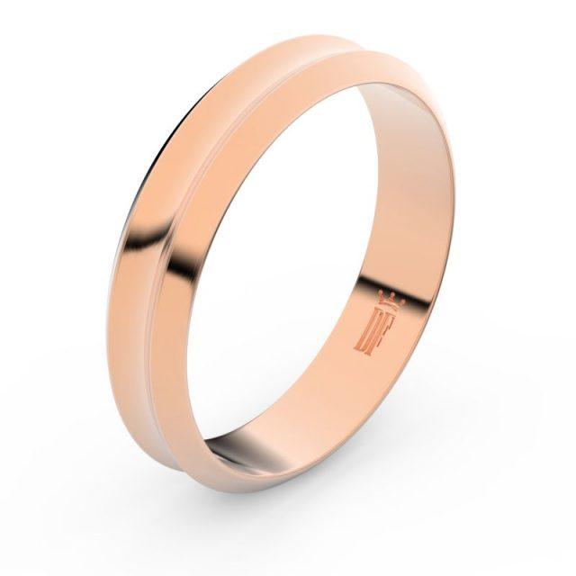 Snubní prsten z růžového zlata, Danfil FMR 4B45
