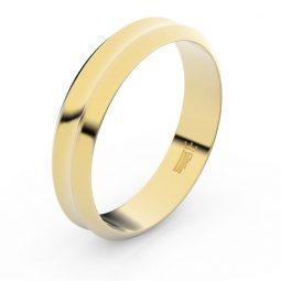 Snubní prsten ze žlutého zlata, Danfil FMR 4B45