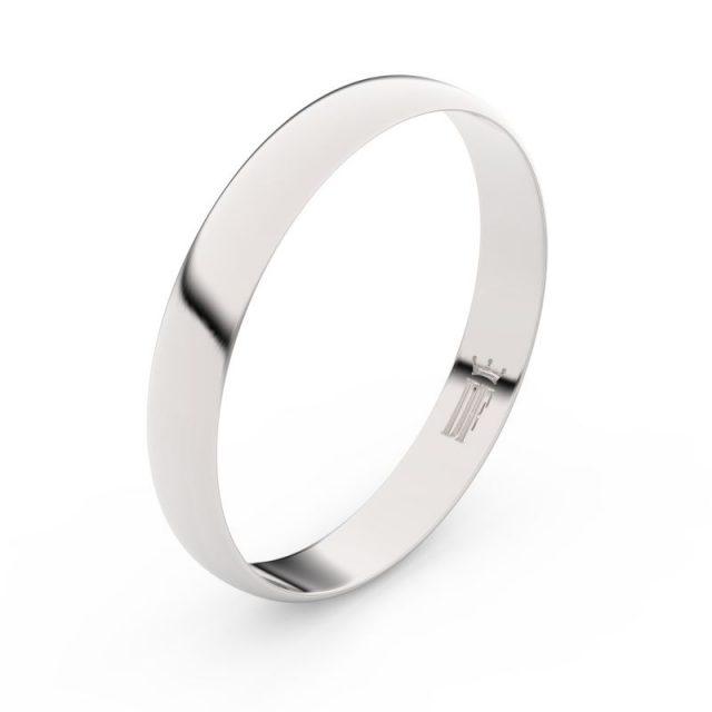 Snubní prsten z bílého zlata, Danfil FMR 4C35