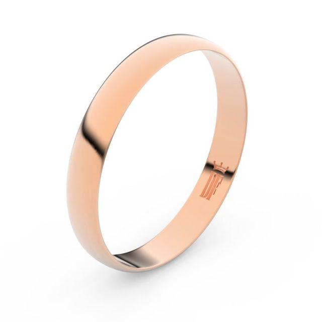 Snubní prsten z růžového zlata, Danfil FMR 4C35