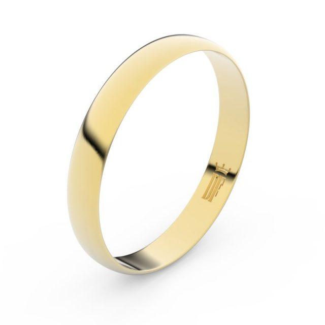 Snubní prsten ze žlutého zlata, Danfil FMR 4C35