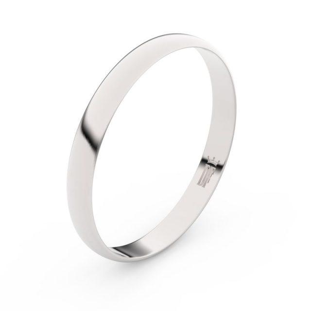 Snubní prsten z bílého zlata, Danfil FMR 4D30