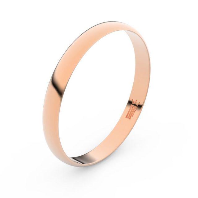 Snubní prsten z růžového zlata, Danfil FMR 4D30