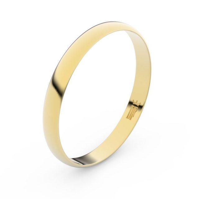 Snubní prsten ze žlutého zlata, Danfil FMR 4D30
