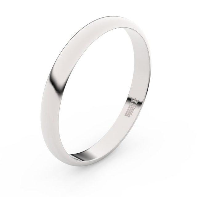 Snubní prsten z bílého zlata, Danfil FMR 4F30