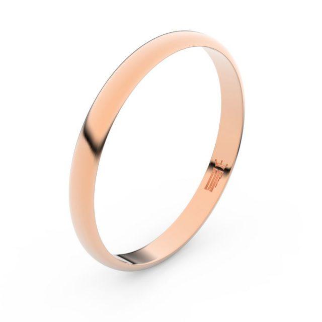 Snubní prsten z růžového zlata, Danfil FMR 4G25