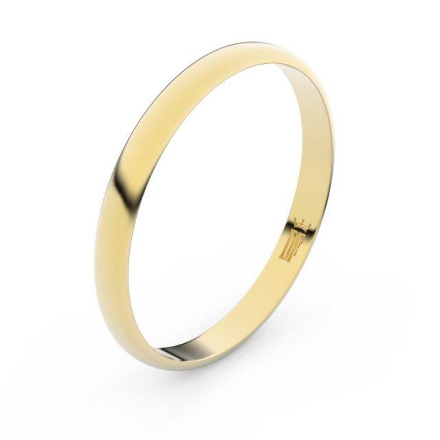 Snubní prsten ze žlutého zlata, Danfil FMR 4G25