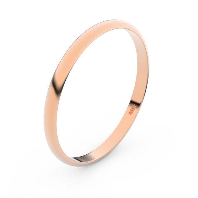 Snubní prsten z růžového zlata, Danfil FMR 4H20